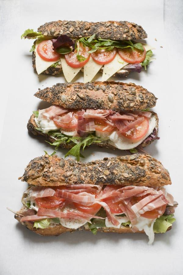 Wholegrain broodjes royalty-vrije stock fotografie