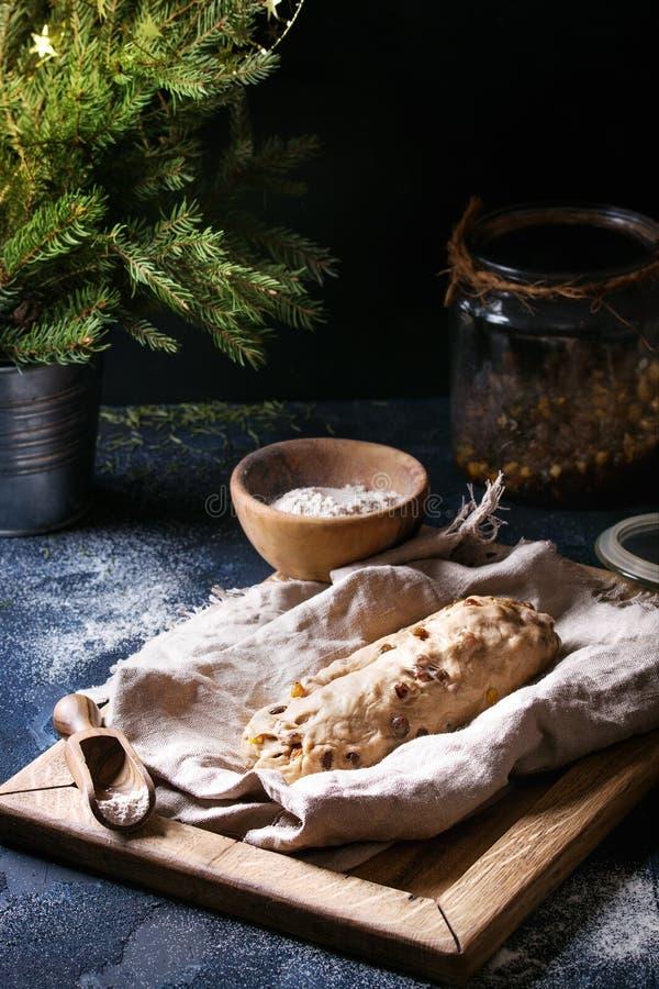 Wholegrain dough for stollen stock image