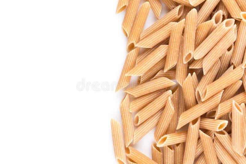 Wholegrain Penne Pasta royalty-vrije stock afbeeldingen