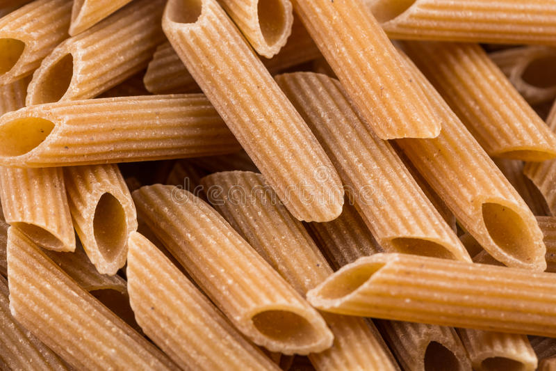 Wholegrain Penne Pasta royalty-vrije stock afbeelding
