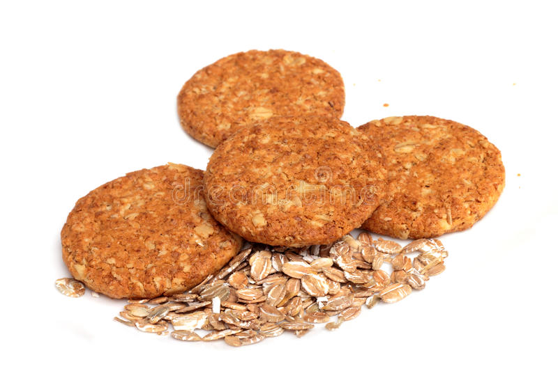 Wholemeal cookies stock image