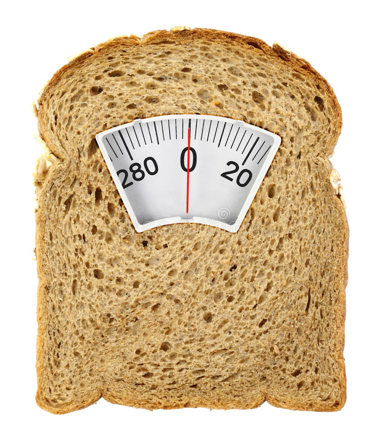 Free Wholesome Slice Of Bread As Weighing Scale Royalty Free Stock Photo - 33849695