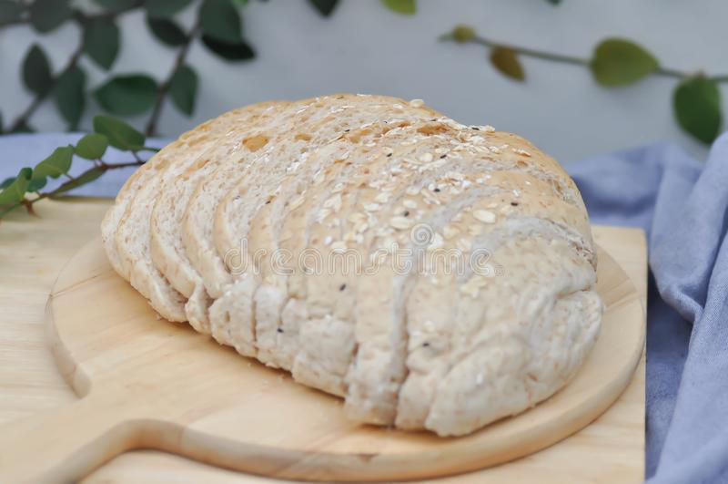 Wholewheat chleb zdjęcie royalty free