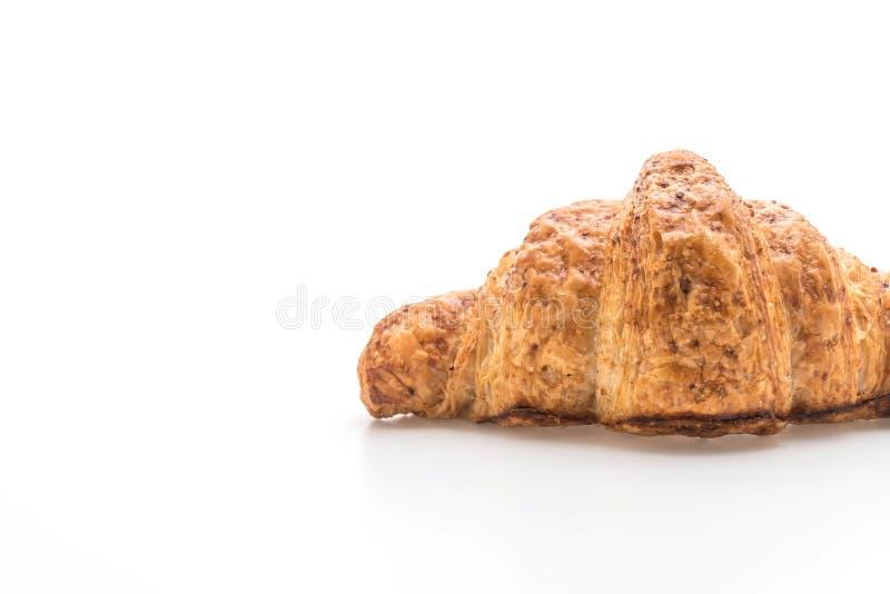 wholewheat croissant na bia?ym tle obraz stock