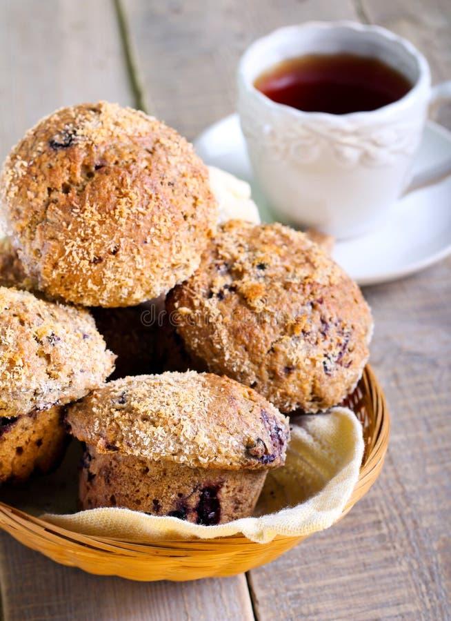 Wholewheat jagody muffins obraz stock