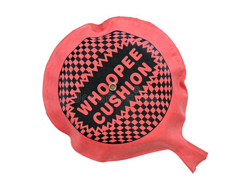 Whoopee Cushion. Isolated against a white background royalty free stock photo