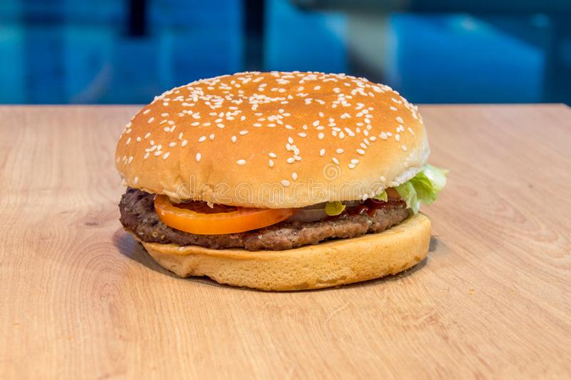 Whopper sandwich from Burger King. stock photos