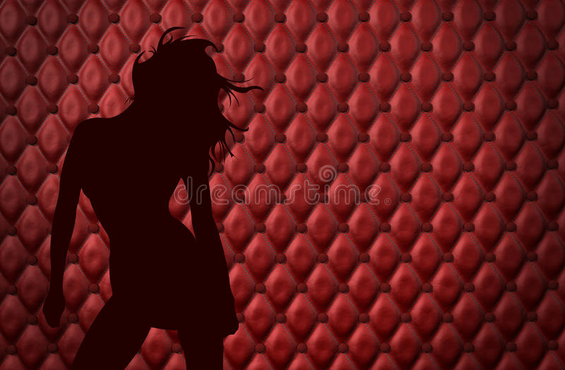 girl in the men´s club royalty free stock photo
