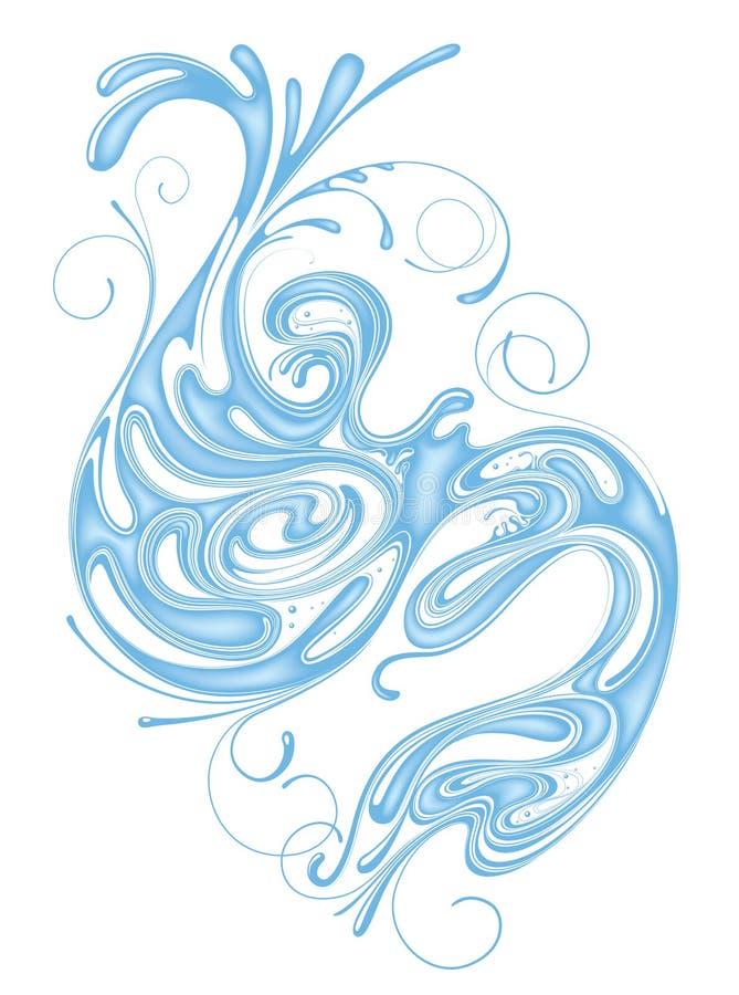 Whorl di acqua illustrazione vettoriale