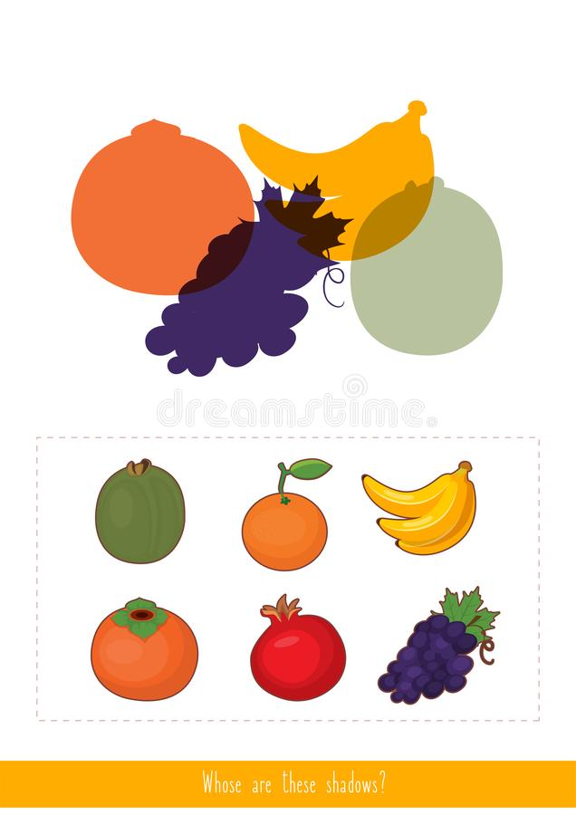 Whose are these shadows stock illustration