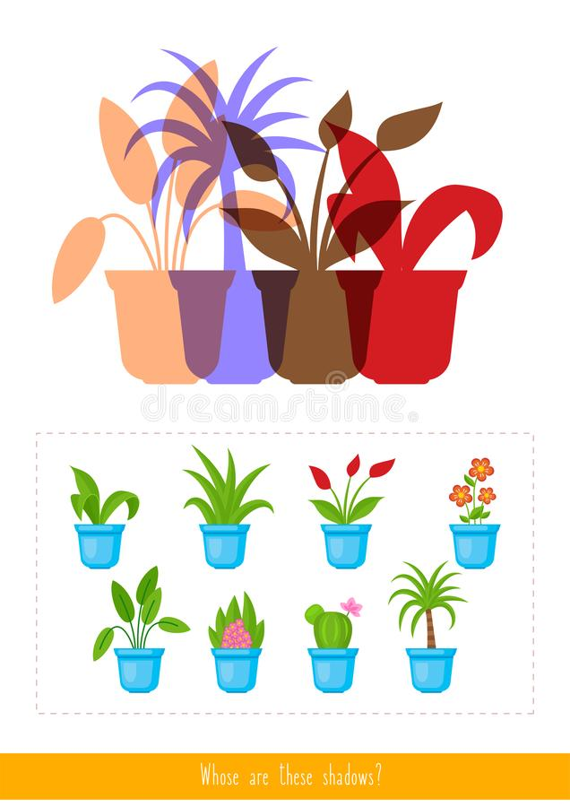 Whose are these shadows royalty free illustration