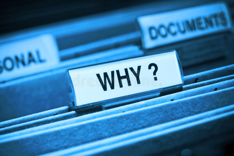 Download WHY ? stock image. Image of file, here, purpose, come - 10879293