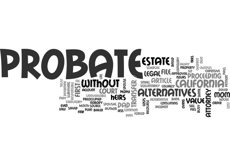Why Probate Word Cloud royalty free illustration