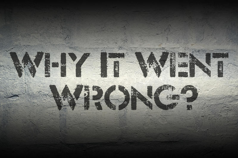 Why it went wrong stock images