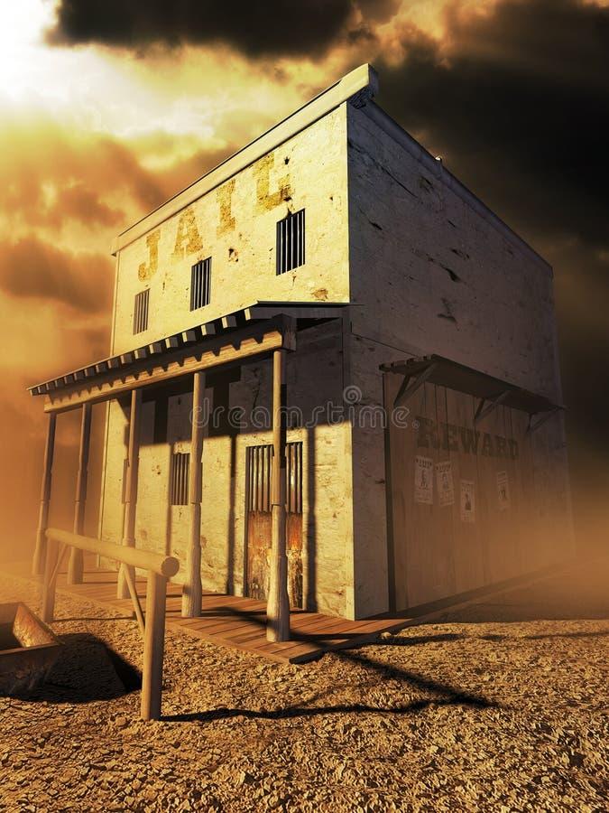 więzienie stary western zdjęcie stock