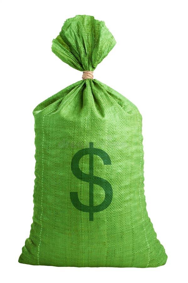 Wiążący w górę burlap torby obraz royalty free