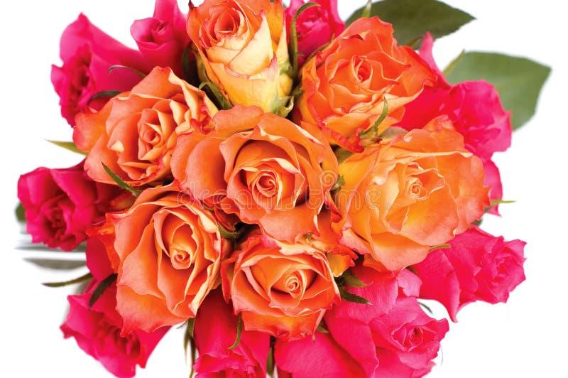 Download Wiązek róże obraz stock. Obraz złożonej z wiązka, biały - 13333893