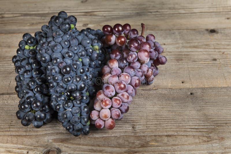 Wiązka czerwonego wina winogrono zdjęcia royalty free