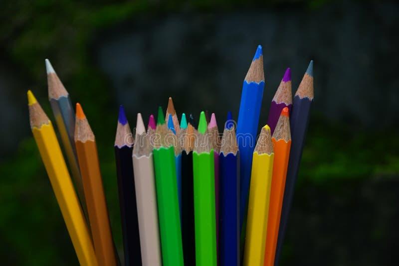 Wiązka kolorów ołówki zdjęcie stock