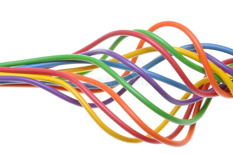 Wiązka kolorowi elektryczni kable zdjęcia royalty free
