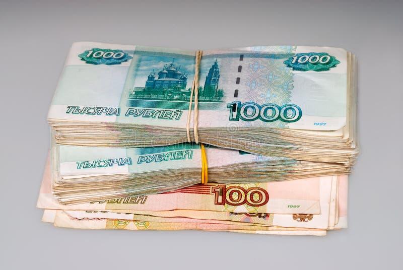 Wiązka rosyjscy ruble zdjęcia royalty free
