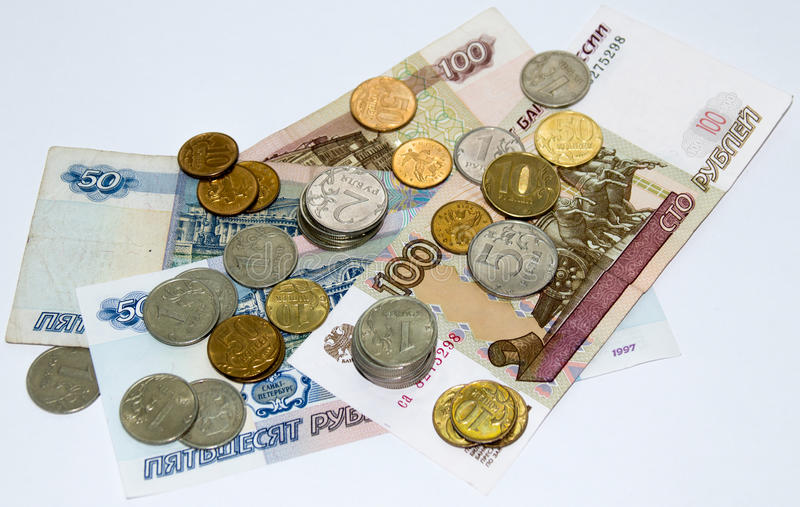 Wiązka Rosyjscy ruble fotografia stock