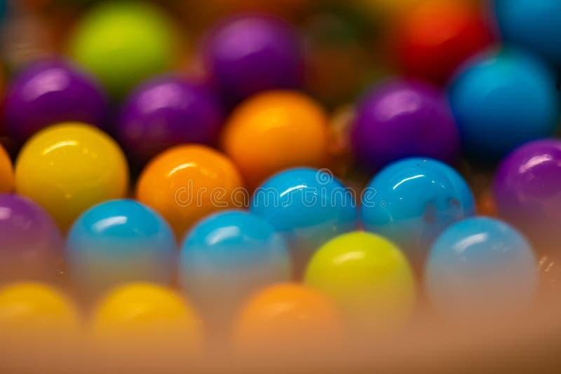 Wiązka Round kolorowi cukierki abstrakcjonistyczni zdjęcia stock