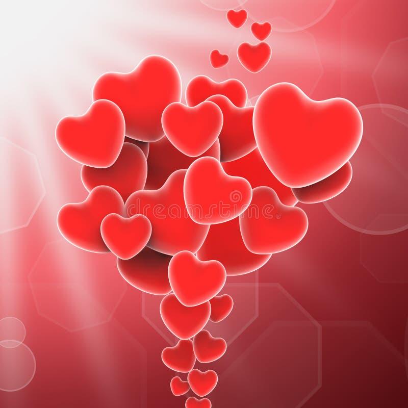 Wiązka serce sposobów Słodka miłość Lub Romantyczny ilustracja wektor