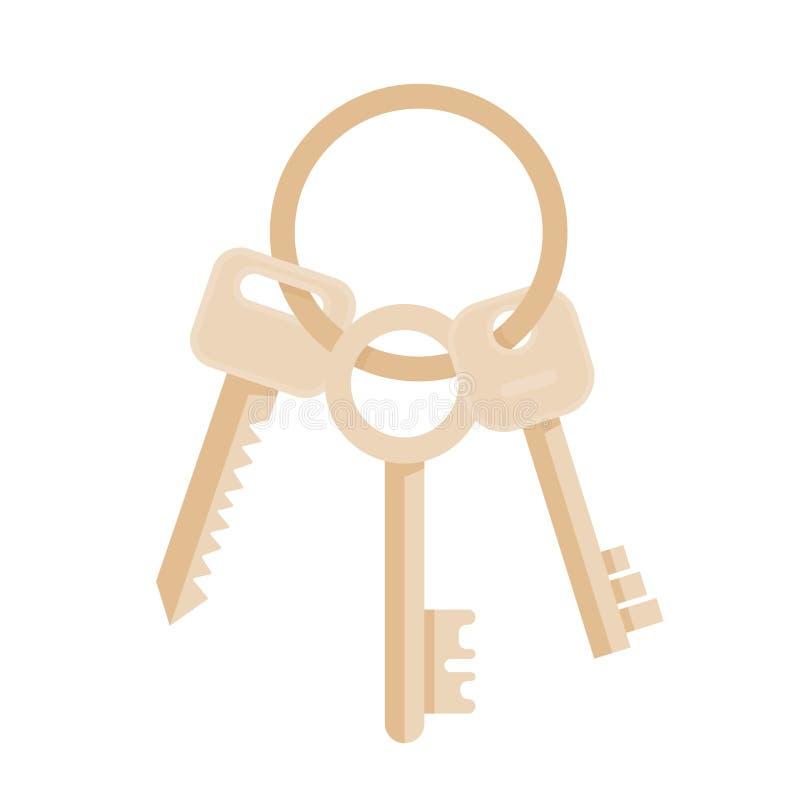 Wiązka Trzy klucza ilustracji