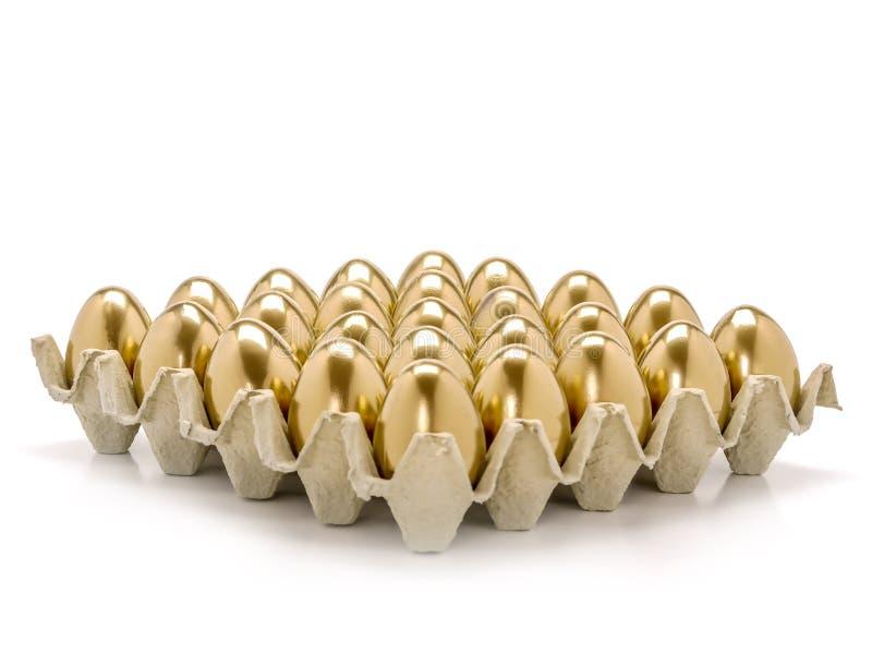 Wiązka złoci jajka zdjęcia royalty free