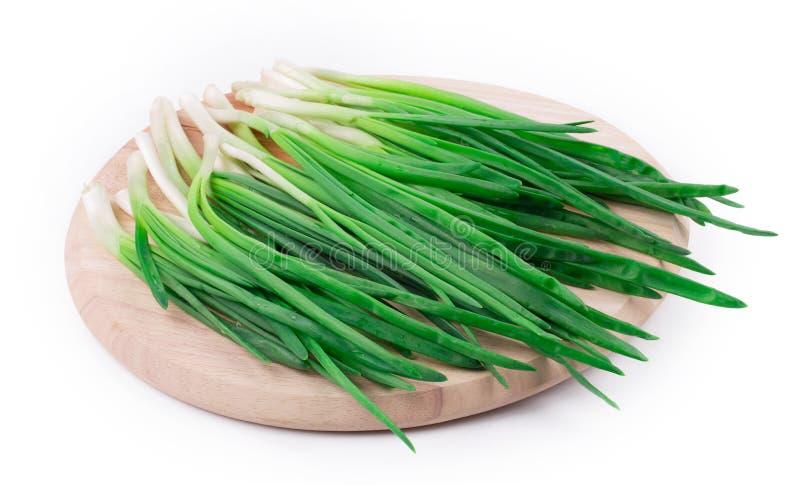 Wiązka zielona cebula obraz stock