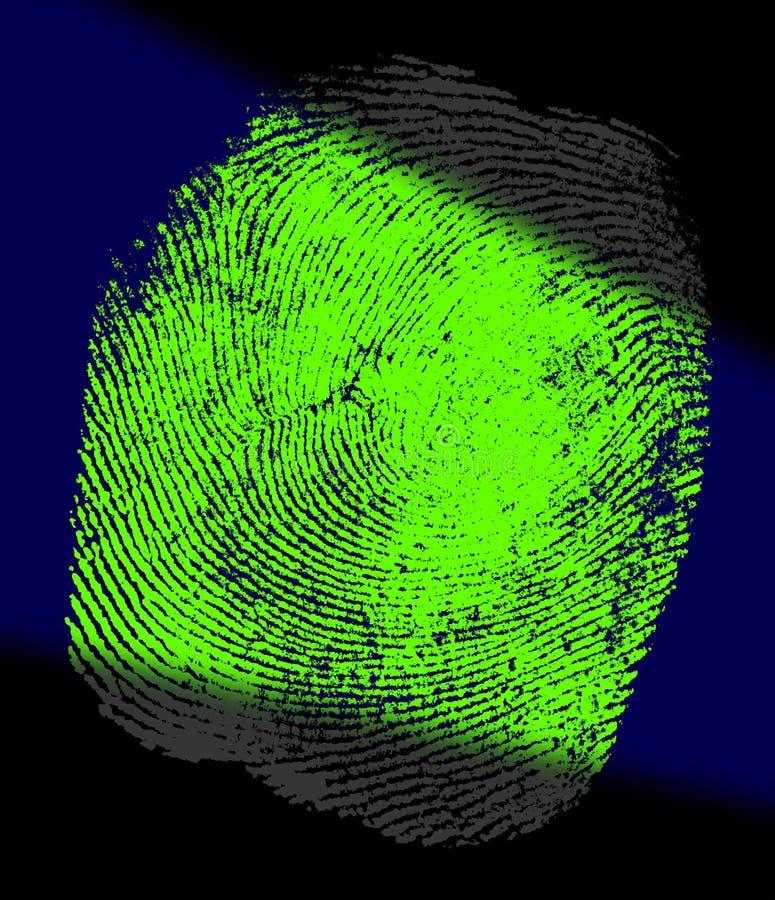 wiązki światła odcisków palców w uv royalty ilustracja