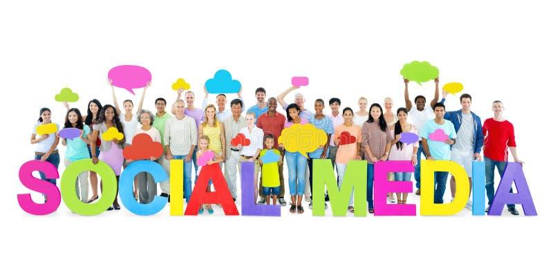 wiązki komunikacyjne pojęcia rozmowy ma środki zaludniają socjalny obrazy stock