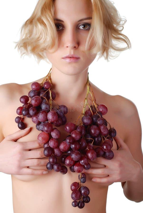 wiązki winogron kobieta obraz stock
