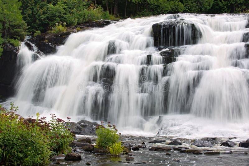 Więź spadki, Ontonagen rzeka, Michigan zdjęcie stock
