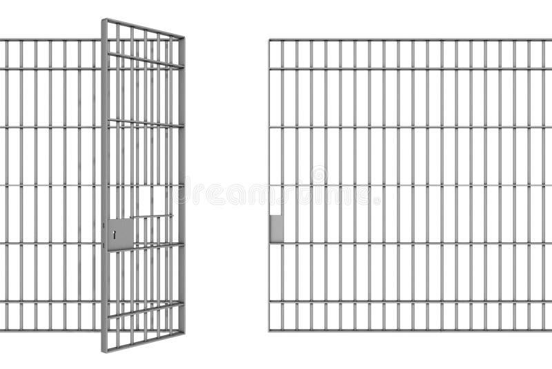 Więźniarscy bary ilustracja wektor