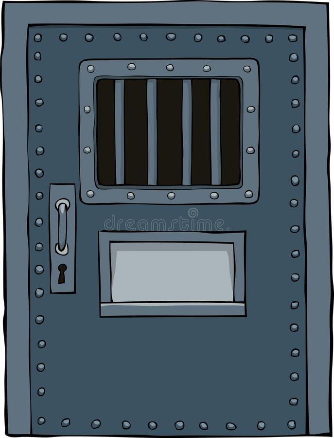 Więźniarski drzwi royalty ilustracja