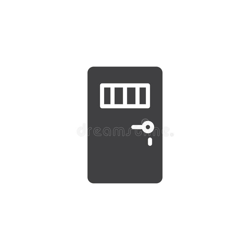 Więźniarski drzwiowy ikona wektor ilustracji