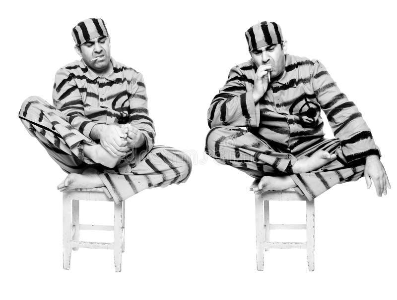 Więźniarski pedicure fotografia royalty free