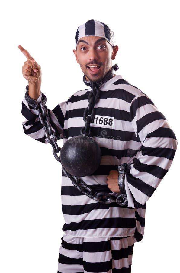 Download Więźniarski Więzień Odizolowywający Na Bielu Zdjęcie Stock - Obraz złożonej z cieszy, przestępstwo: 57653846