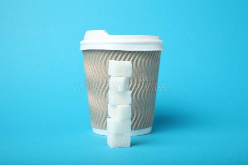 Wi?cej cukier w kawie, na??g, cukrzyce obrazy royalty free