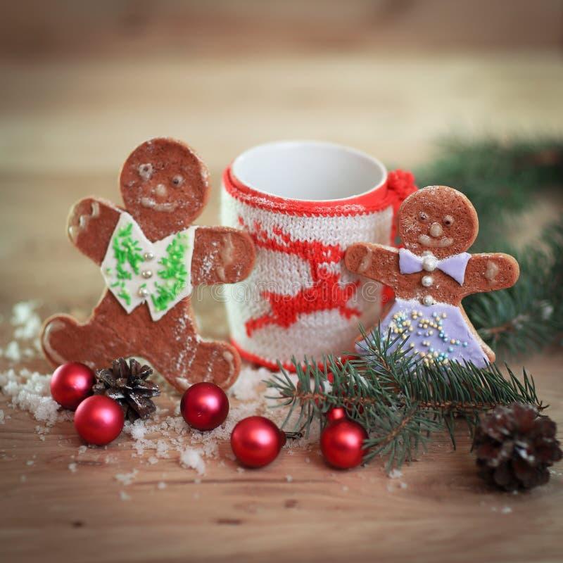więcej toreb, Świąt oszronieją Klaus Santa niebo Boże Narodzenia napadać na kogoś i piernikowi mężczyzna obrazy royalty free