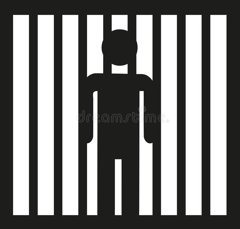 Więzień ikony wektor ilustracja wektor