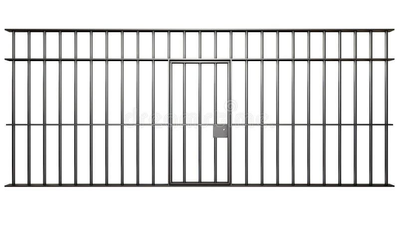 Więzienia Komórki Bary ilustracja wektor