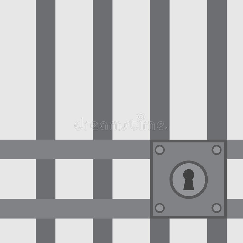 Więzienie barów kędziorek ilustracja wektor