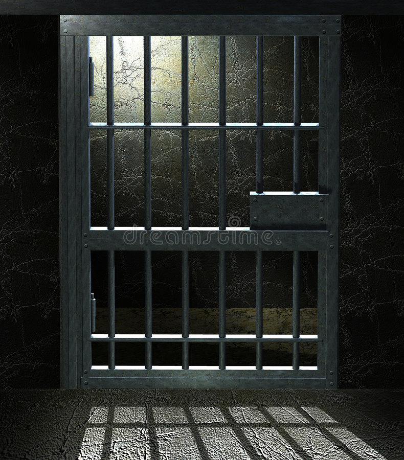 więzienie komórek ilustracji