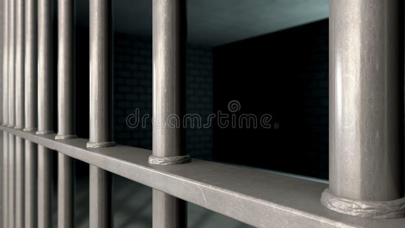 Więzienie komórka Zakazuje zbliżenie zdjęcie royalty free