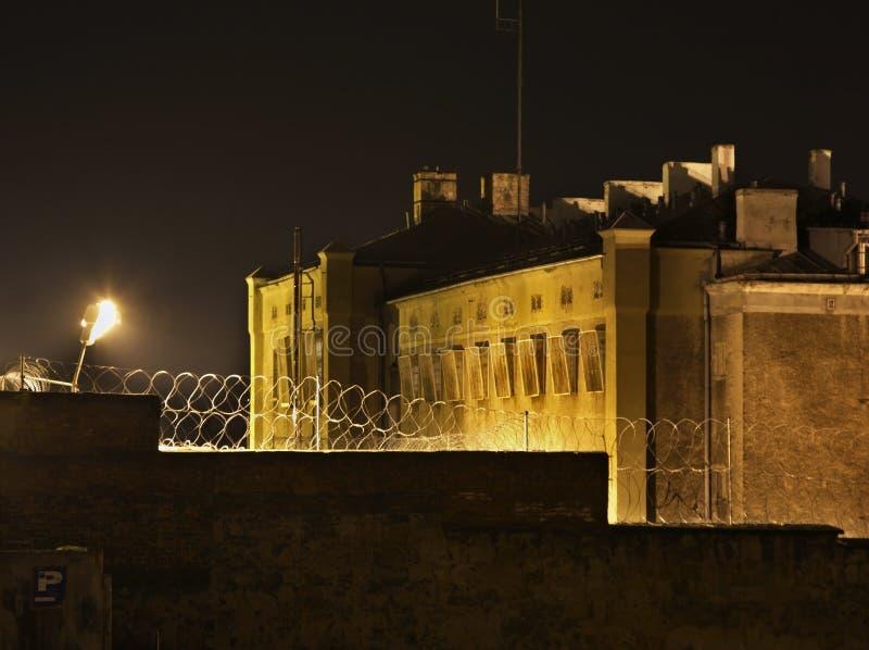 Więzienie w Wałbrzyskim miasteczku Polska zdjęcie stock