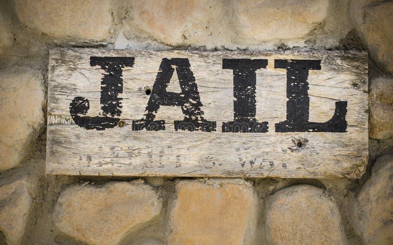 Więzienie znak fotografia stock