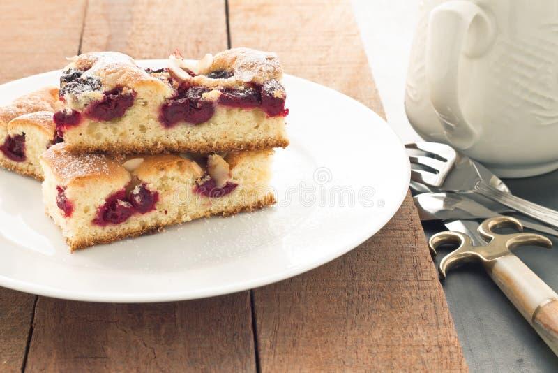 Wiśnia tort obrazy royalty free